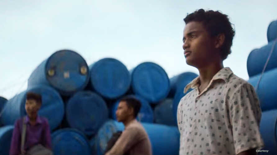 "Actor Sarm Heng as rural Cambodian boy Chakra in the film, ""Buoyancy."""