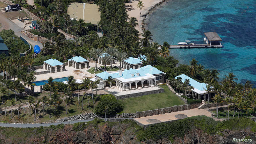 Facilities at Little St. James Island, one of the properties of financier Jeffrey Epstein, are seen in an aerial view, near Charlotte Amalie, St. Thomas, U.S. Virgin Islands, July 21, 2019.