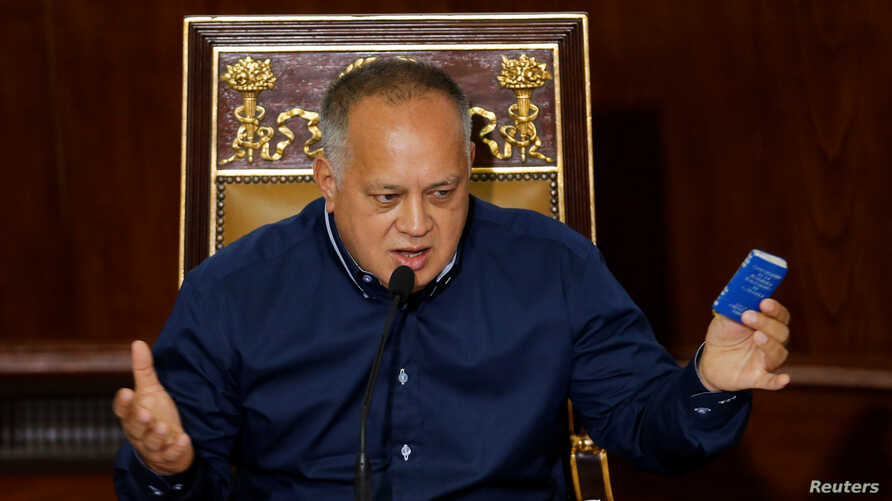 Venezuela's National Constituent Assembly (ANC) President Diosdado Cabello takes part in a session in Caracas, Venezuela, Aug. 12, 2019.