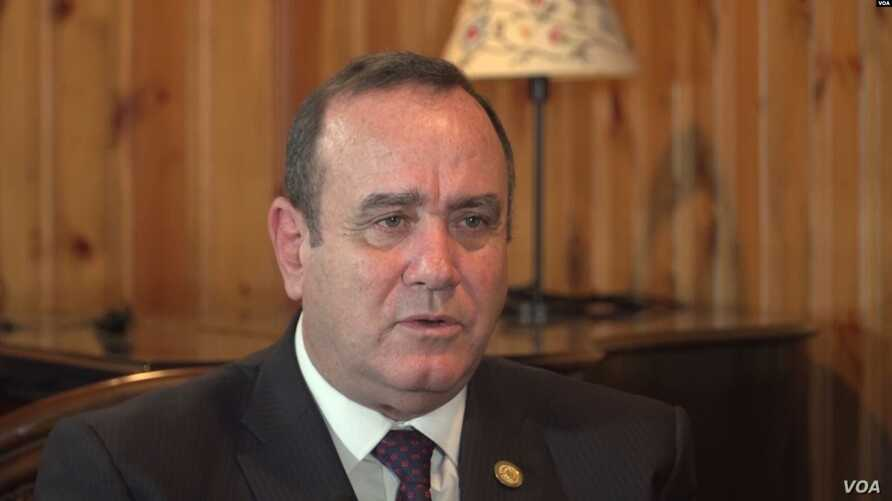 President-elect of Guatemala, Alejandro Giammattei, is seen during an interview with the Voice   of America during his visit to the U.S., Aug. 19, 2019.