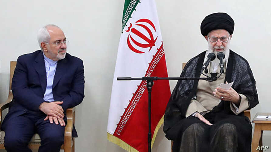 Iranian Supreme Leader Ayatollah Ali Khamenei and Foreign Minister Mohammad Javad Zarif