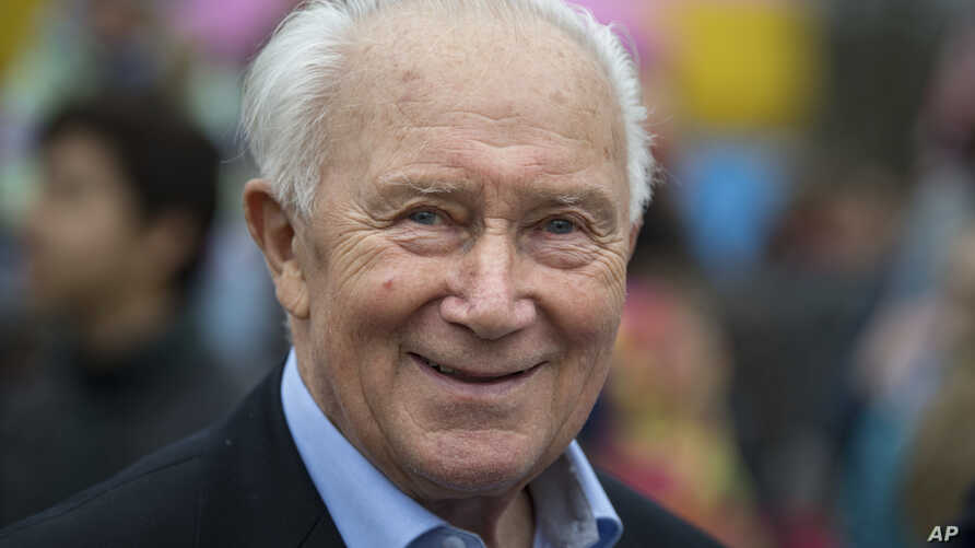 Cosmonaut Sigmund Jaehn, seen in this March 24, 2019 file photo, stands in front of the Cosmonaut Center in Chemnitz. Sigmund Jaehn cosmonaut, who became the first German in space has died. He was 82.