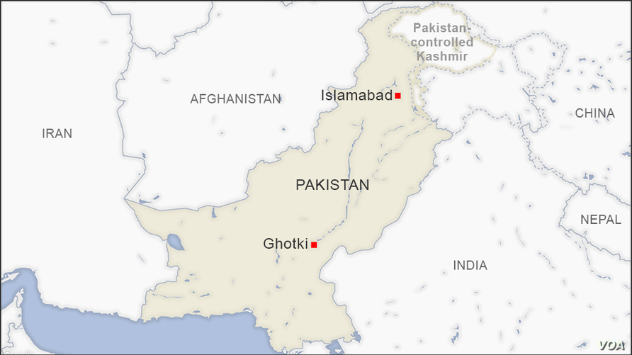 Map of Ghotki Pakistan