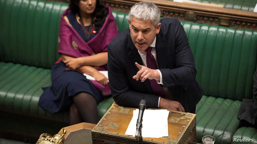 Britain's Minister for Exiting the European Union Stephen Barclay speaks during debate in the House of Commons in London, Sept. 4, 2019.