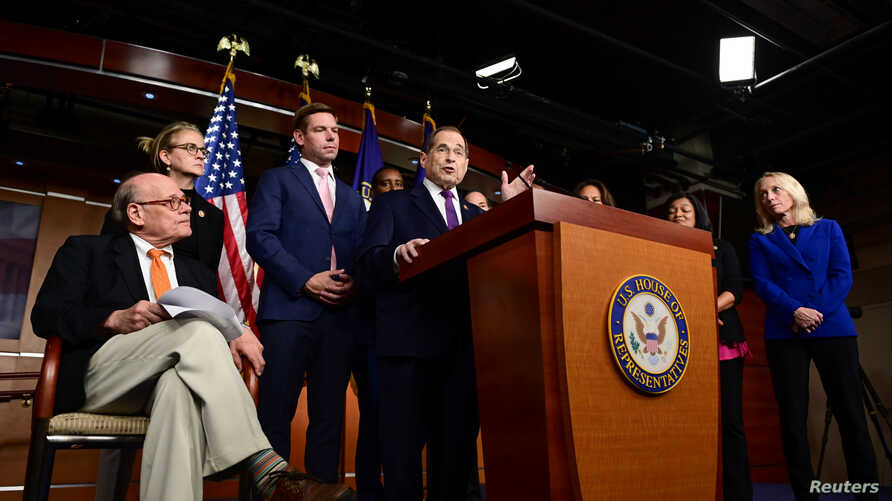 House Judiciary Committee Chairman Jerry Nadler (D-NY) holds a news conference to discuss the Committee's oversight agenda