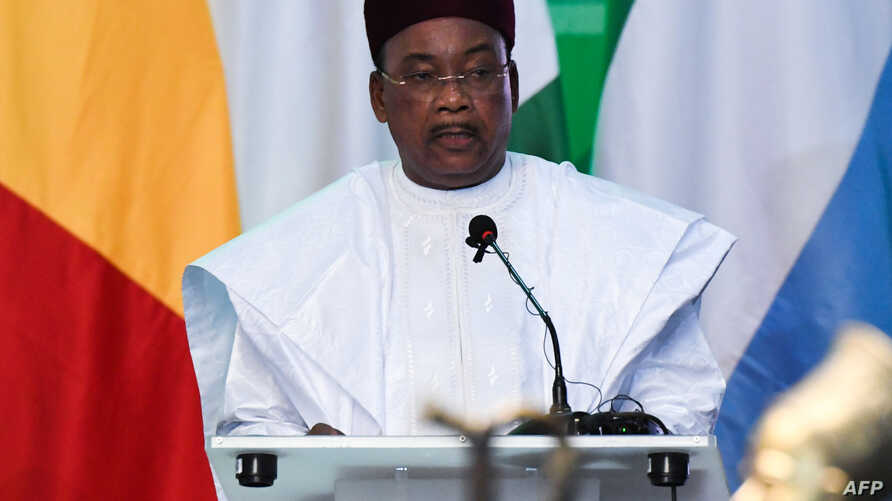 President Mahamadou Issoufou of Niger and ECOWAS chairman delivers a speech during the opening ceremony of ECOWAS G5 security summit in Ouagadougou, Sept, 14, 2019.