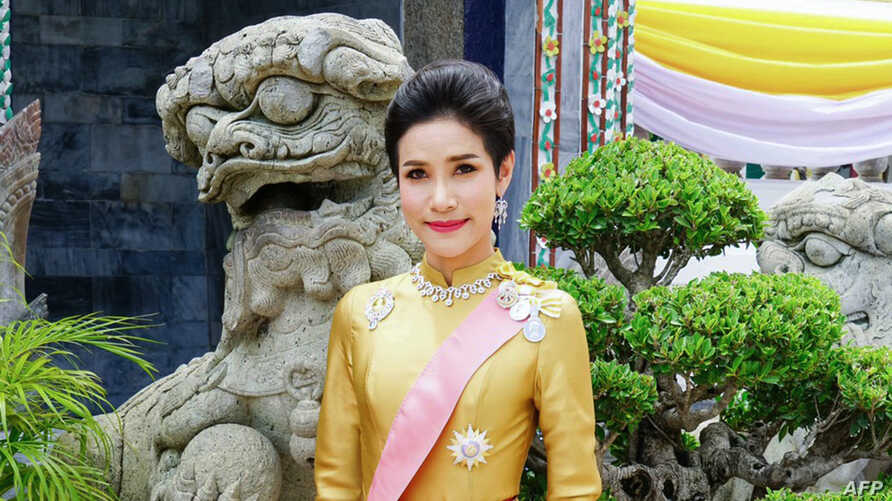 (FILES) In this file undated handout from Thailand's Royal Office received on August 26, 2019, royal noble consort Sineenat…