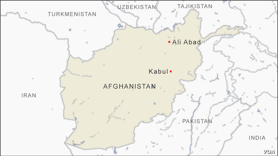 Map of Ali Abad Afghanistan