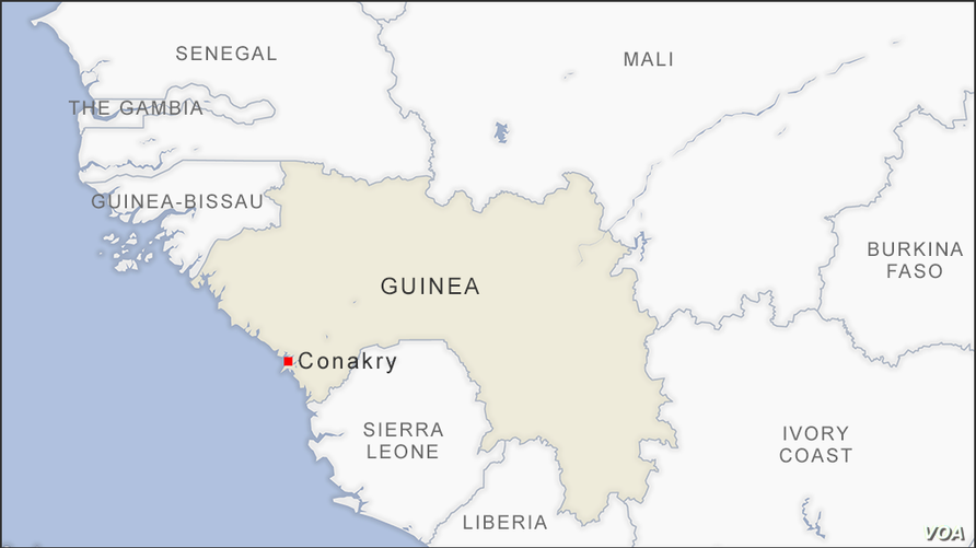 Map of Conakry Guinea