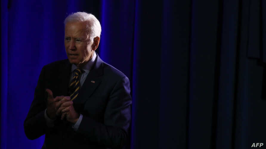 Democratic presidential candidate Joe Biden listens to a story from an attendee at the We Decide: Planned Parenthood Action Fund 2020 Election Forum to Focus on Abortion and Reproductive Rights event in Columbia, South Carolina, June, 22 2019.