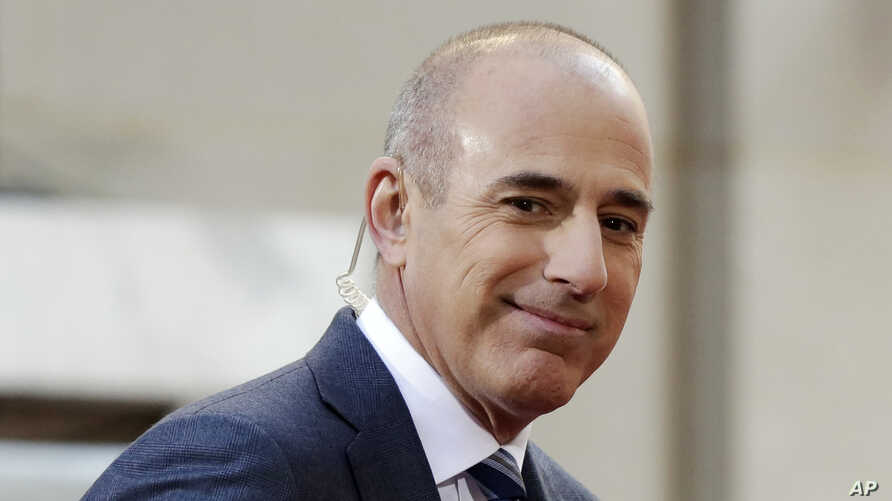 """Matt Lauer, co-host of the NBC """"Today"""" television program at the time, appears on set, in Rockefeller Plaza, New York, April 21, 2016."""