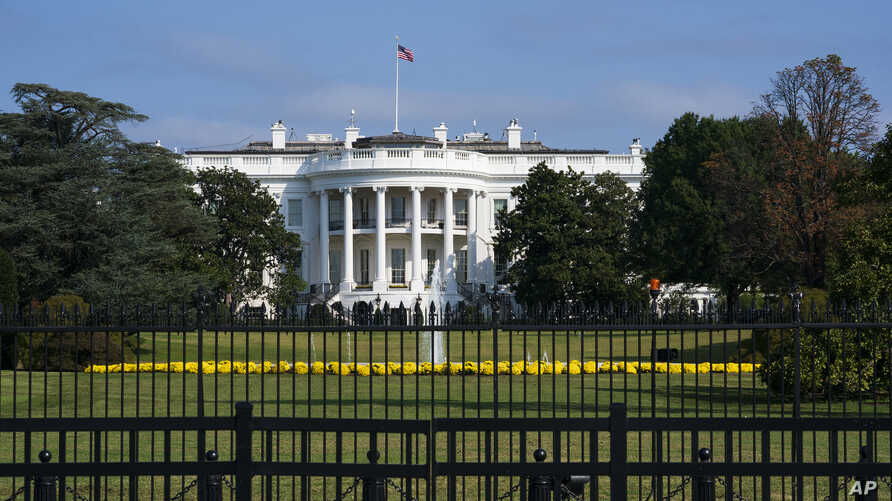 The White House is seen in Washington, Oct. 1, 2019, as House Democrats move aggressively in their impeachment inquiry of President Donald Trump.
