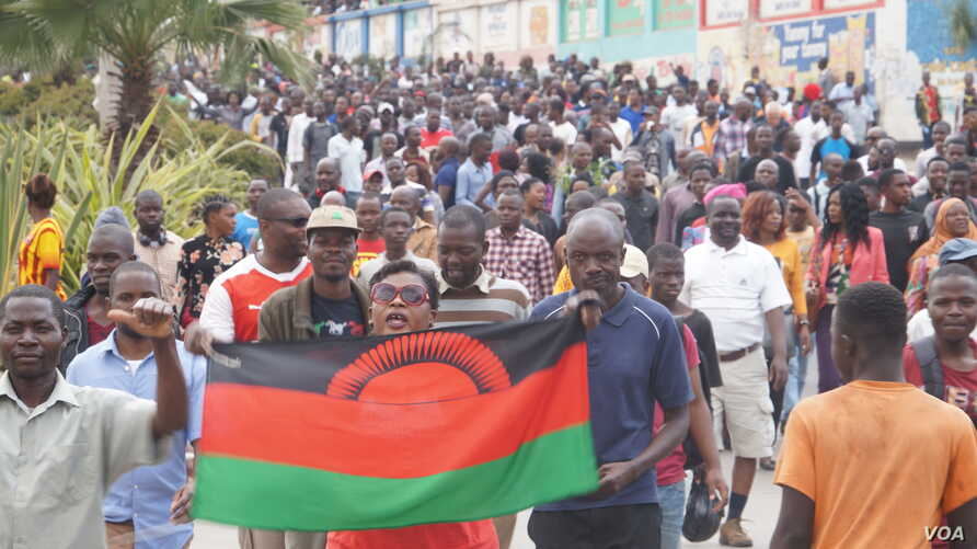 Malawi has been facing a wave of protests since President Peter Mutharika secured a second term in May, most them ending in violence. (Lameck Masina/VOA)