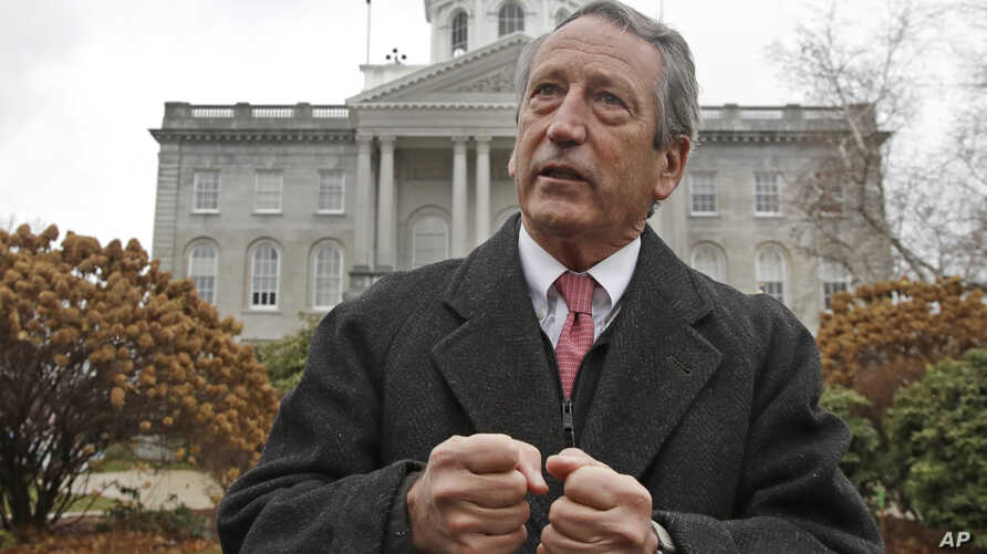 Republican presidential candidate former South Carolina Gov. Mark Sanford speaks during a news conference in front of the Statehouse, Nov. 12, 2019, in Concord, N.H.