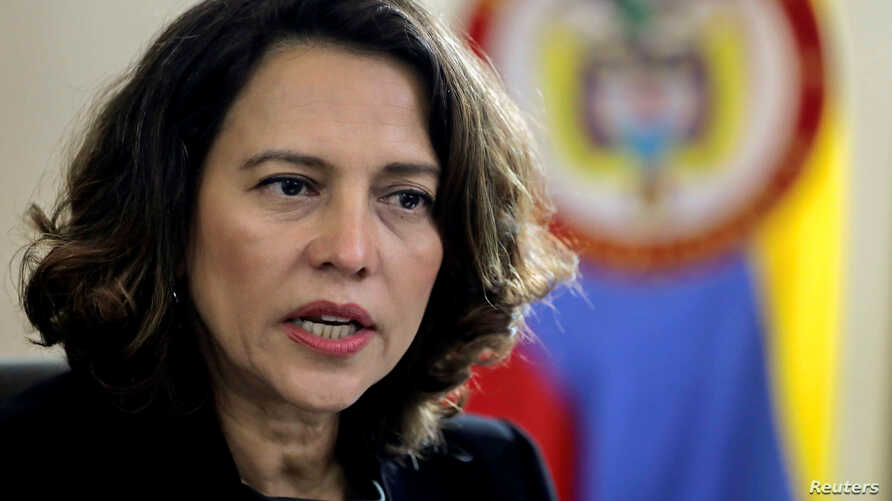 Colombia's Interior Minister Nancy Patricia Gutierrez speaks during a Reuters interview in Bogota, Colombia October 23, 2019…