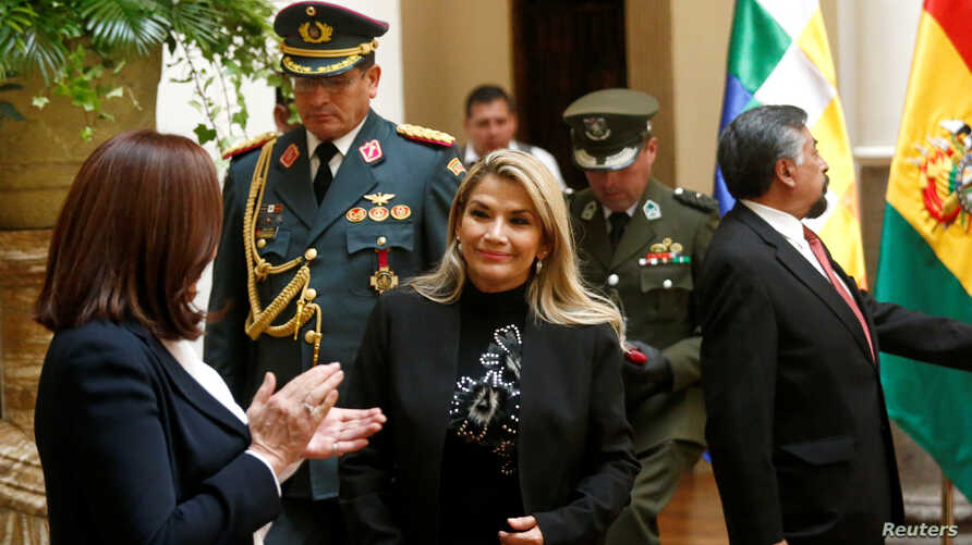 Bolivia's interim President Jeanine Anez attends a ceremony at the presidential palace in La Paz, Bolivia, November 22, 2019…