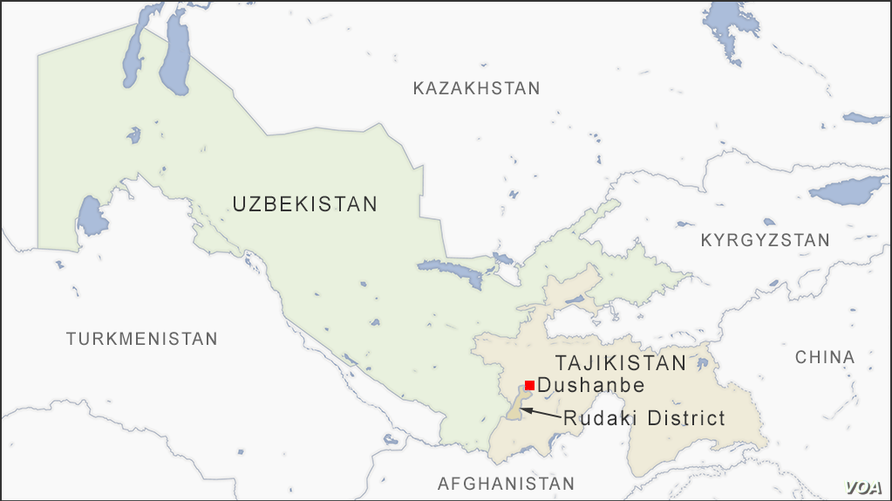 Map of Rudaki district Tajikistan