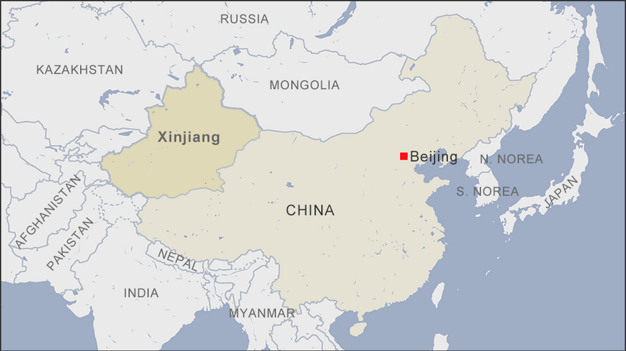 Map of Xinjiang China