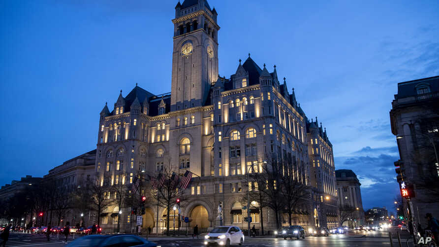 FILE - The Trump International Hotel near sunset in Washington, Jan. 23, 2019.