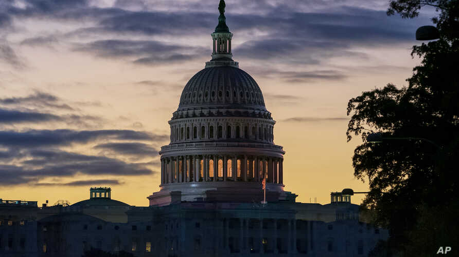 The Capitol is seen at dawn on the morning after Speaker Nancy Pelosi, D-Calif., announced the House of Representatives will…