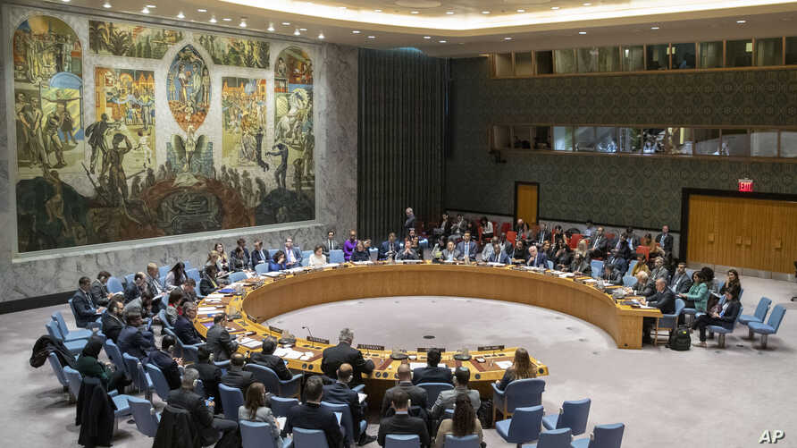 "On Dec. 2, 2019, the 15-member Security Council, shown on  Nov. 20, 2019, urged all states ""not to intervene in the conflict or to take measures that would exacerbate the conflict"" jn Libya."