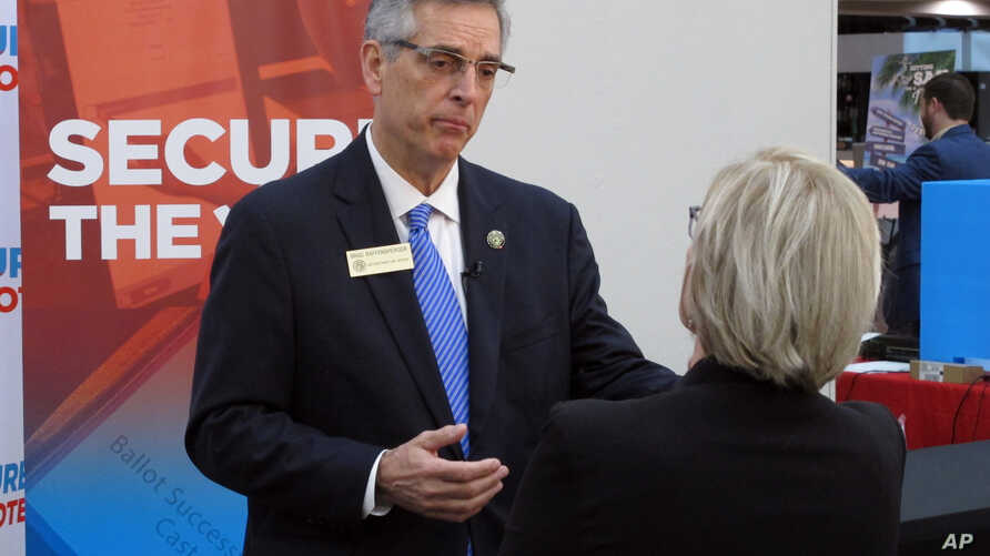 Georgia Secretary of State Brad Raffensperger attends a conference of local election officials in Savannah, Georgia, Dec. 11, 2019.