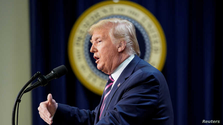 """U.S. President Donald Trump addresses the """"White House Summit on Transforming Mental Health Treatment to Combat Homelessness,…"""