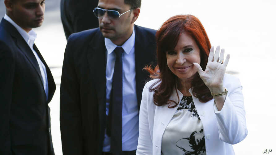 Elected vice president Cristina Fernandez de Kirchner arrives to court in Buenos Aires, Argentina, Dec. 2, 2019.
