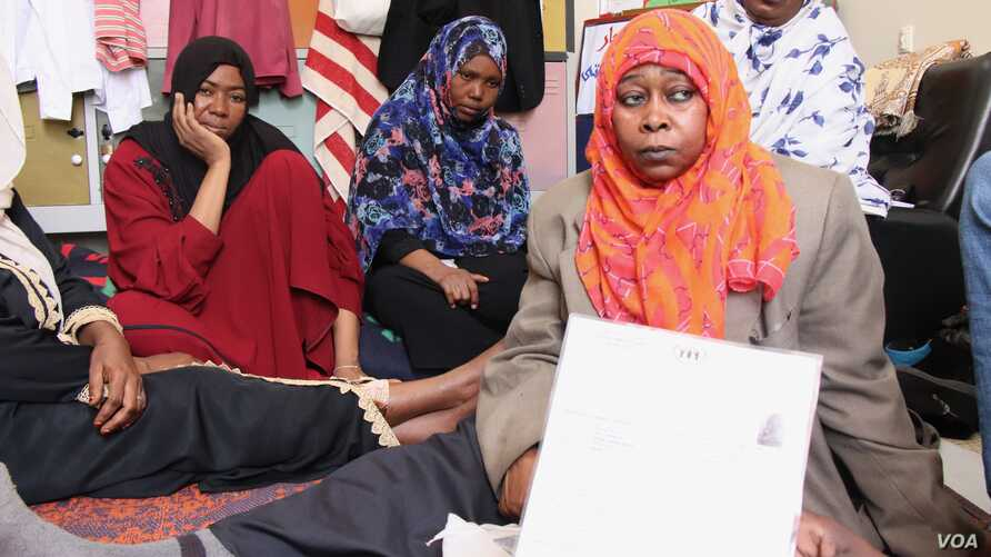 Families describe torture, rapes and kidnappings on the road from their homes in Sudan to Libya on May 4, 2019 in Tripoli, Libya