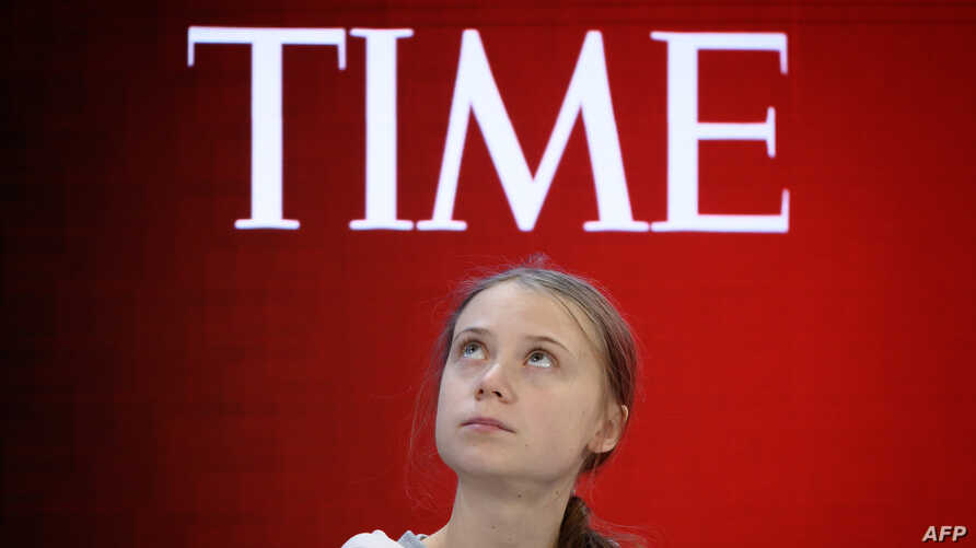 Swedish climate activist and Time's Person of the Year 2019 Greta Thunberg attends a session during the World Economic Forum annual meeting in Davos, Switzerland, Jan. 21, 2020.