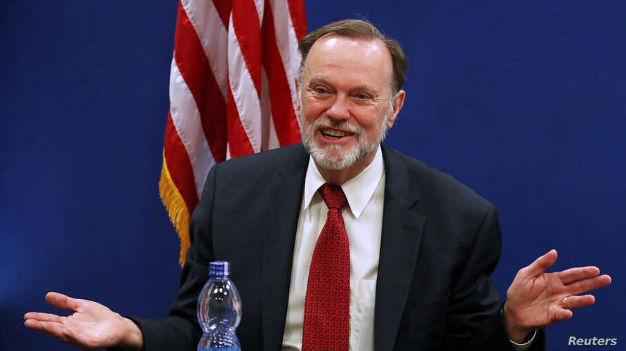 FILE - Tibor Nagy, the U.S. Assistant Secretary of State for Africa, speaks during a news conference at the U.S. Embassy in Addis Ababa, Ethiopia, June 14, 2019.