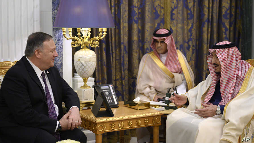 Image result for US' Pompeo, Saudi crown prince discuss Iran 'threat'