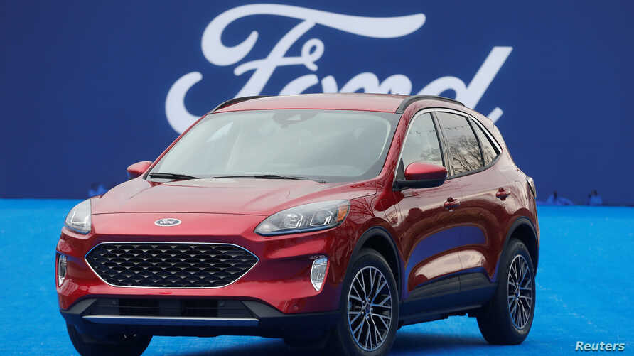 Ford Motor Co. unveils the new 2020 Escape SUV during a celebration at Greenfield Village in Dearborn, Michigan, U.S., March 28…