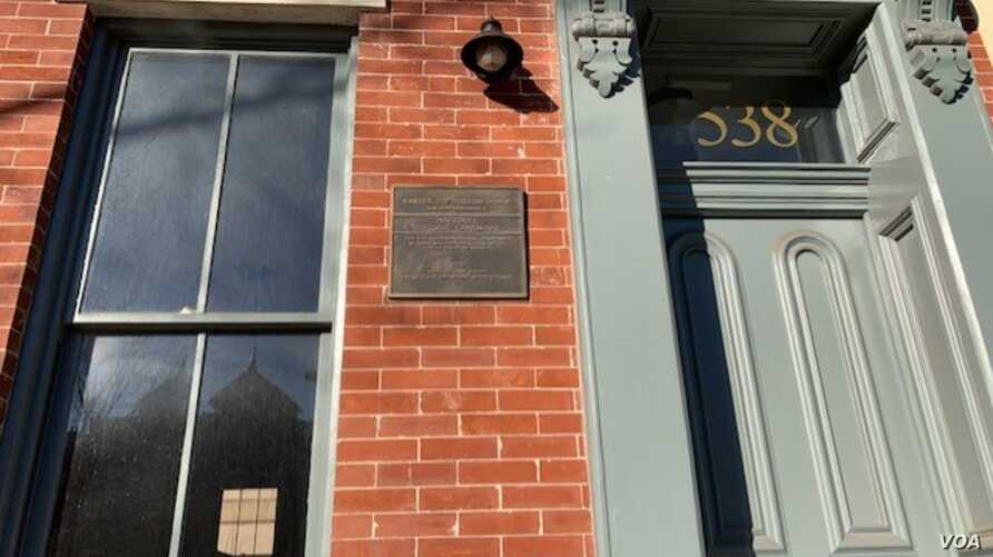 "In 1922, Carter Woodson, purchased the red brick home for $8,000 in the Shaw neighborhood, known as the ""Heart of Black Washington.""  (Chris Simkins/VOA)"