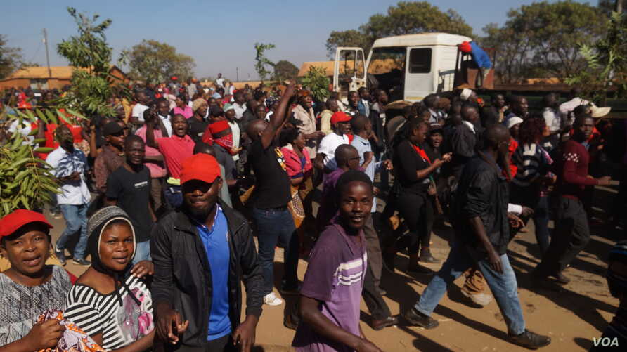 HRDC has been organizing protests like these since May which have sometimes turned violent. (Lameck Masina/VOA)