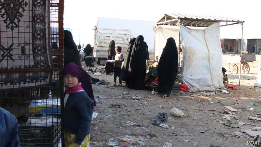 Many mothers in al-Hol Camp say they want their sons to grow up to be the next generation of IS fighters, in Syria, Feb. 18, 2020. (Heather Murdock/VOA)