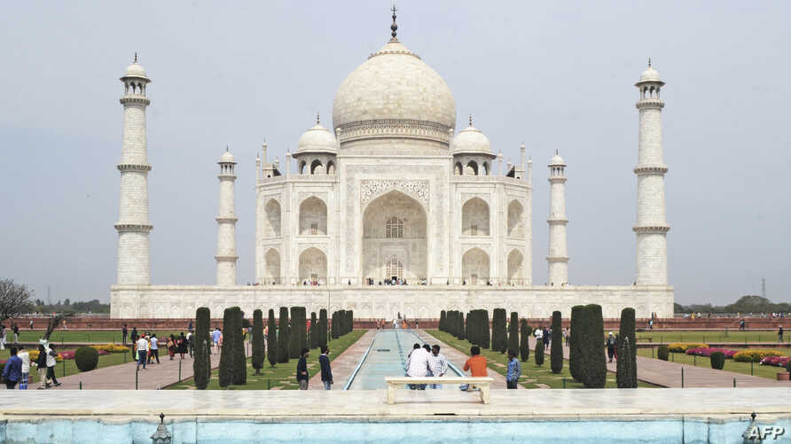 A low number of tourists are seen at Taj Mahal amid concerns over the spread of the COVID-19 novel coronavirus, in Agra, India, March 16, 2020.