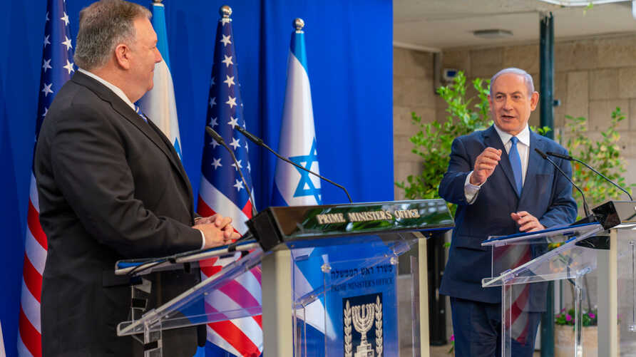 U.S. Secretary of State Mike Pompeo meets with Israeli Prime Minister Benjamin Netanyahu at the Prime Minister's residence in Jerusalem, May 13, 2020. (Credit: State Department Photo by Ron Przysucha)