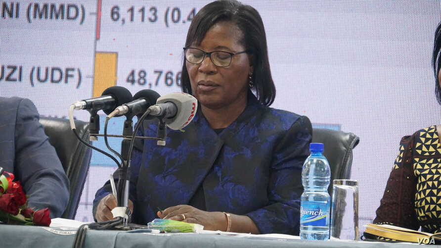 Malawi Electoral Commission Chairperson Jane Ansah says she has resigned in compliance with a court judgement. (Lameck Masina/VOA)