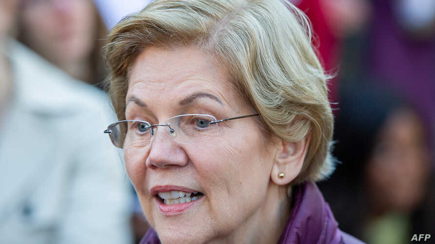 Democratic presidential candidate Massachusetts Senator Elizabeth Warren announces the suspension of her presidential campaign…