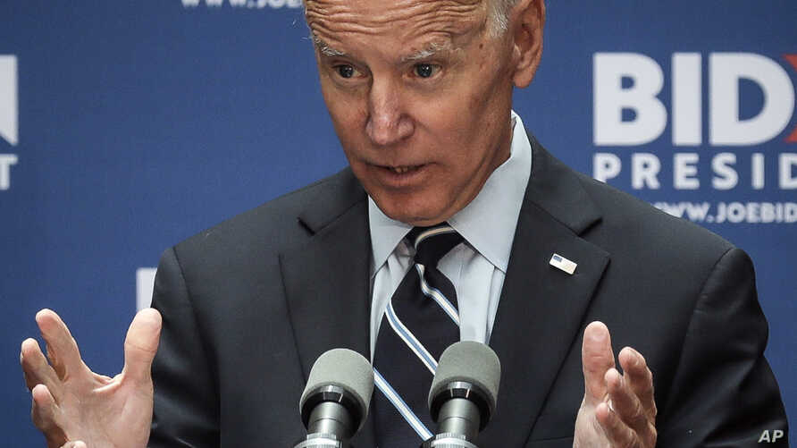 Democratic presidential candidate former Vice President Joe Biden speaks about foreign policy at The Graduate Center at CUNY, Thursday, July 11, 2019, in New York. (AP Photo/Bebeto Matthews)