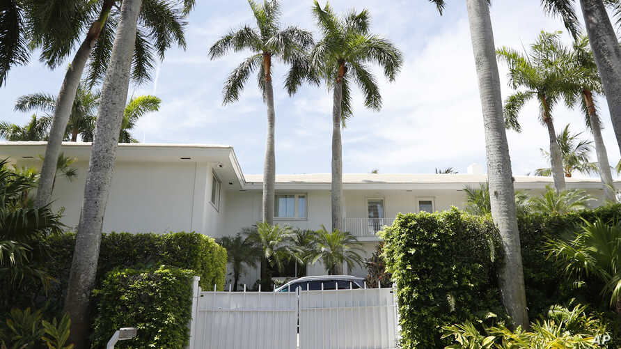 The Florida residence of Jeffrey Epstein is shown, July 10, 2019, in Palm Beach, Fla.