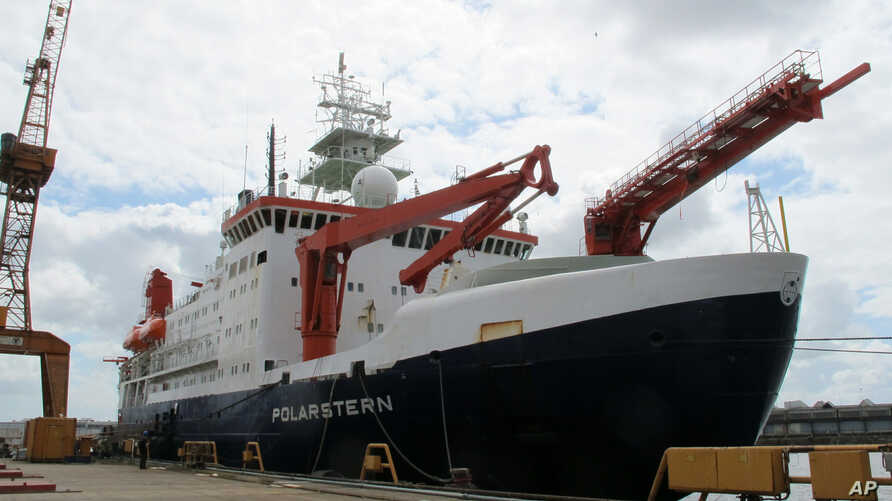 The German Arctic research vessel Polarstern is docked for maintenance in Bremerhaven, Germany, July 3, 2019.