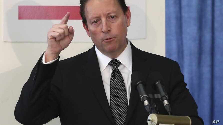 FILE - In this Wednesday, Jan. 30, 2019 file photo, Senate president Bill Galvano, R-Bradenton, speaks at a pre-legislative news conference in Tallahassee, Fla. Florida legislators are moving to officially condemn white nationalism, with Democrats…