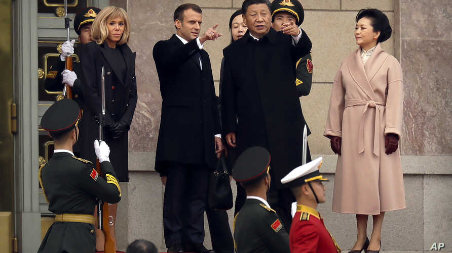 French President Emmanuel Macron in China