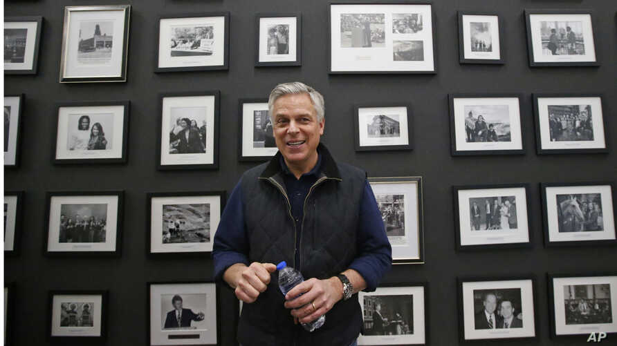 Republican ex-Russia ambassador Jon Huntsman Jr. looks on after speaking at the Hinckley Institute of Politics Thursday, Dec. 5…
