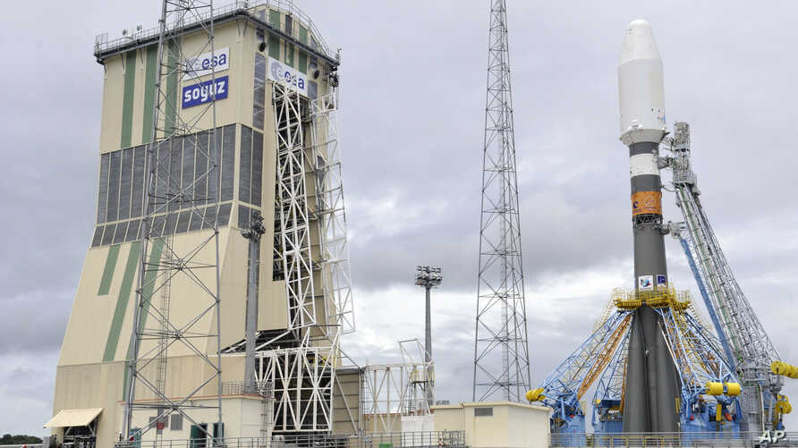Russia's Soyuz-ST-B spacecraft at the Guiana Space Center in Kourou