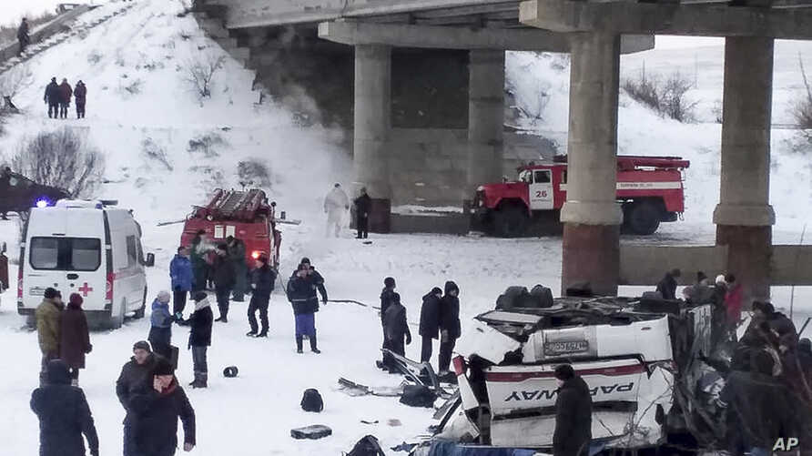russia bus accident