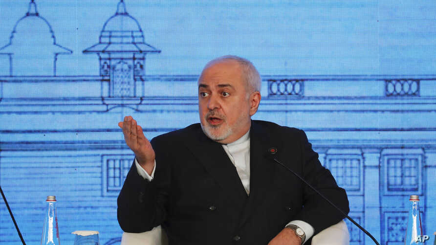 Iranian Foreign Minister Mohammad Javad Zarif speaks at the Raisina Dialogue 2020 in New Delhi, India, Wednesday, Jan. 15, 2020…