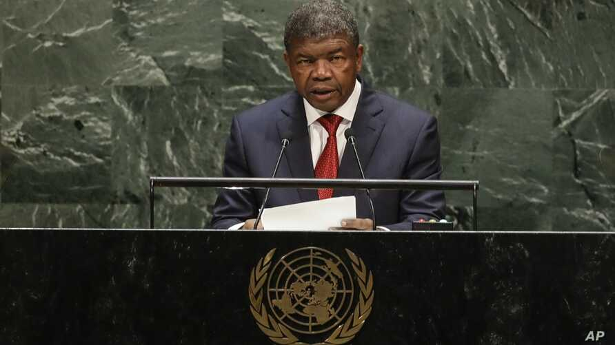 Angola's President Joao Manuel Goncalves Lourenco addresses the 74th session of the United Nations General Assembly, Tuesday,…